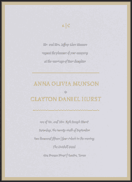 A Simple Monogram Wedding Invitation