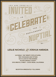 All that Jazz Wedding Invitation