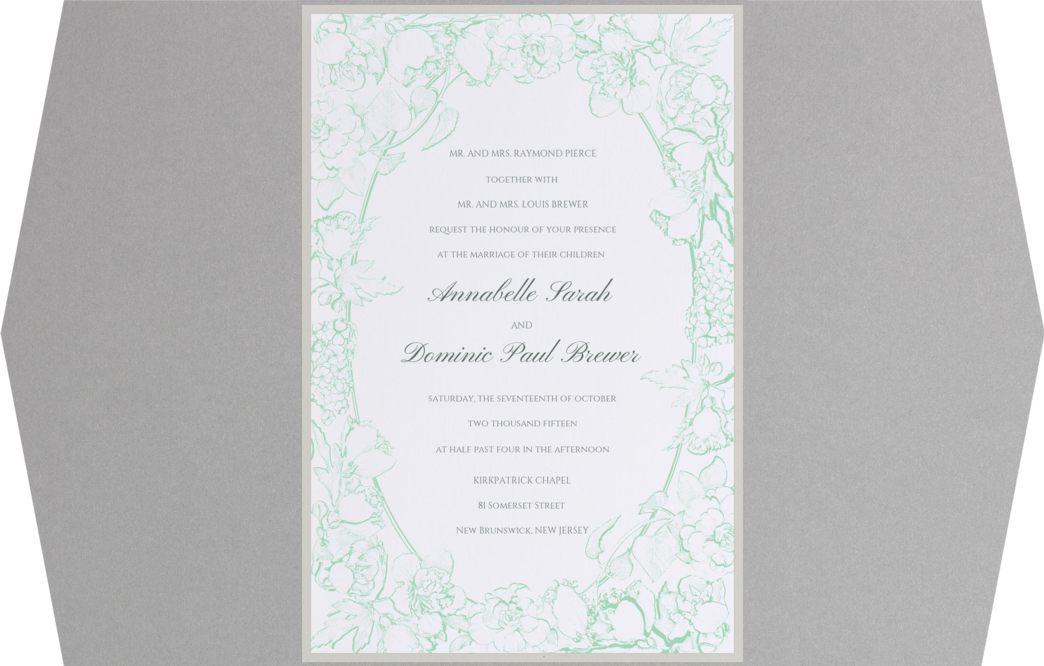 Arboretum Wedding Invitation