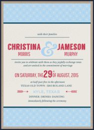 Chain Linked Wedding Invitation