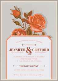 Victorian Roses Wedding Invitation