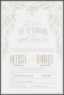 Filigree Arbor Wedding Invitation