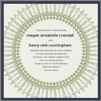 Sundial Happiness Wedding Invitation