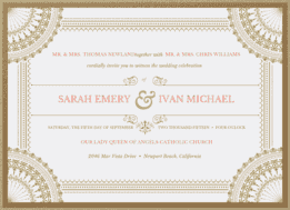 Stagecoach Wedding Invitation