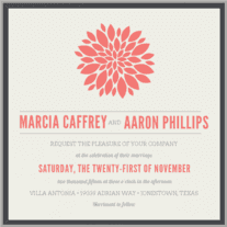 Petal Burst Wedding Invitation
