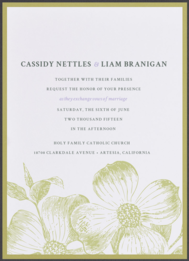 First Bloom Wedding Invitation