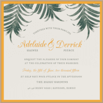 Palm Palm Wedding Invitation
