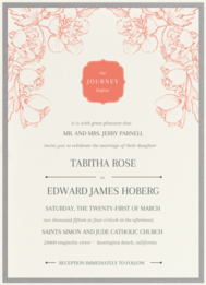 Silhouette Joy Wedding Invitation