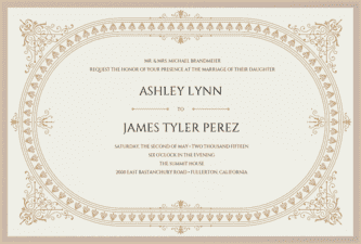 Downtonesque Wedding Invitation