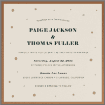 Confetti Spill Wedding Invitation