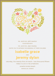 Love's Garden Wedding Invitation