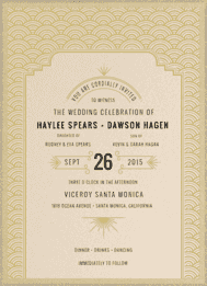 Gatsbyesque Wedding Invitation