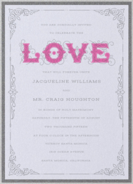 Ornamental Love Wedding Invitation
