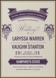 Vineyard Vows Wedding Invitation