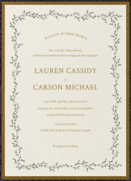Dancing Ivy Wedding Invitation