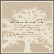 Tree of Love Wedding Invitation