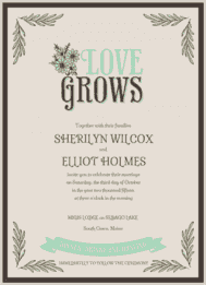 Love Grows Wedding Invitation