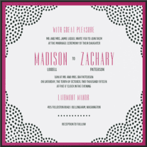 Doiley Wedding Invitation