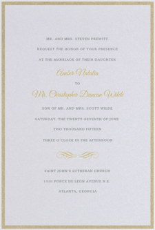 Haute Type Wedding Invitation