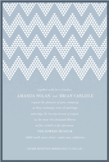 Geo Chevron Wedding Invitation