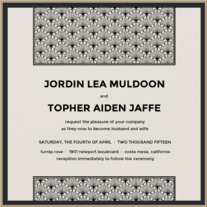 Deco Lounge Wedding Invitation