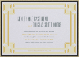 Deco Frame Wedding Invitation