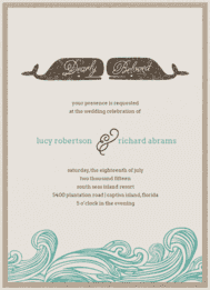 Whale of a Tale Wedding Invitation