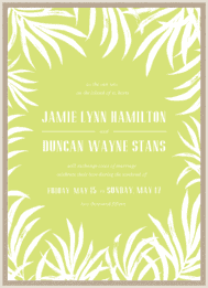 Framed Palms Wedding Invitation