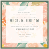 Peony Garden Wedding Invitation