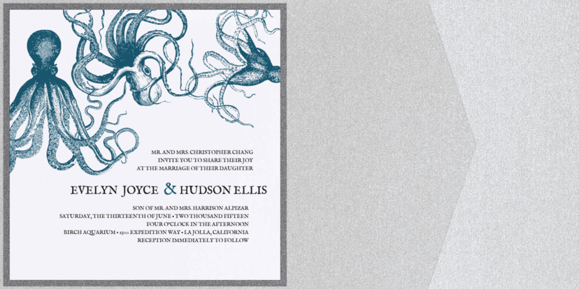 Under the Sea Wedding Invitation