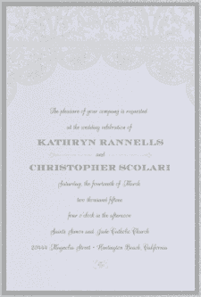 Heirloom Lace Wedding Invitation