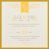 Heart Sprigs Wedding Invitation