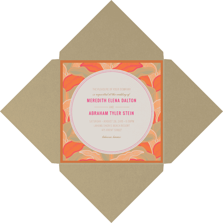 So Frond of you Wedding Invitation