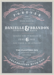 Forever Chalkboard Wedding Invitation