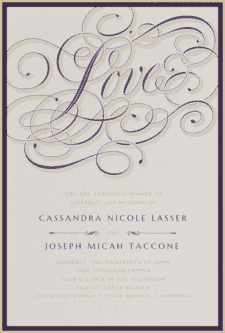 Calligraphy Crush Wedding Invitation