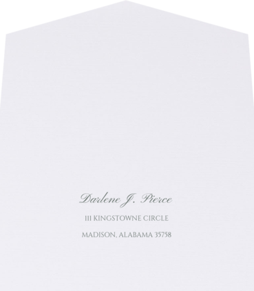 Wedding Response Envelope