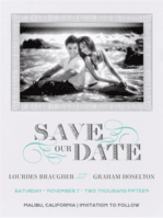 Lovely Swirls Save The Date Wedding Invitation
