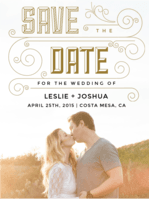 All That Jazz Save The Date Wedding Invitation