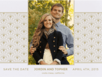 Deco Lounge Save The Date Wedding Invitation