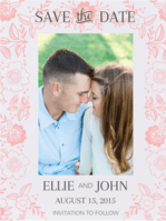 Ring of Flowers Save The Date Wedding Invitation
