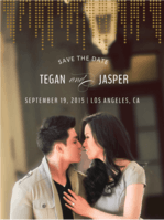 City Lights Save The Date Wedding Invitation