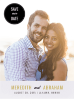 So Frond of You Save The Date Wedding Invitation