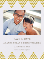 Geo Chevron Save The Date Wedding Invitation