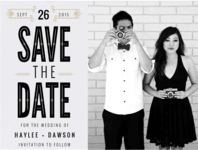 Gatsbyesque Save The Date Wedding Invitation
