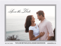 Classic Frame Save The Date Wedding Invitation