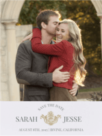 Family Crest Save The Date Wedding Invitation