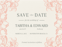 Silhouette Joy Save The Date Wedding Invitation