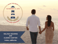 Anchor Lighthouse Save The Date Wedding Invitation