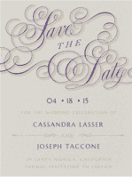 Calligraphy Crush Save The Date Wedding Invitation