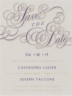 Calligraphy Crush Save The Date Save the Date